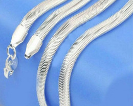 1pc 925 Silver plated 6MM Snake Chain  Necklace ; Very classy 20 inchesc