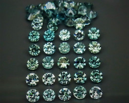 50 Blue Zircon - 8.37 cts - 3 mm - Cambodia