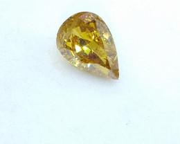 0.47ct  Fancy Intense brownish Green Yellow   Diamond , 100% Natural Untrea