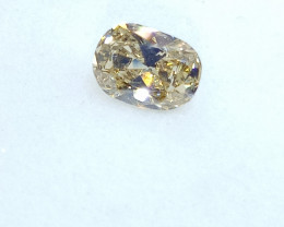 0.27ct   Light brownish  Yellow  Diamond , 100% Natural Untrea