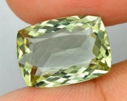 6.17ct  Natural Yellowish Green Beryl- Madagascar Antique Cut