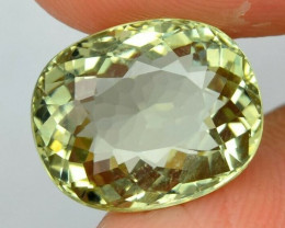 6.80ct  Oval Natural Yellowish Green Beryl, Madagascar