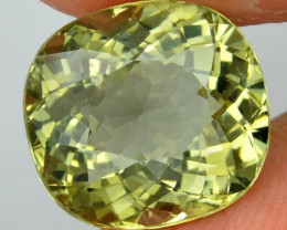 5.50 ct  Cushion Natural Yellowish Green Beryl, Madagascar