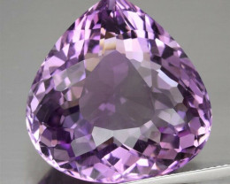 IF 34.54 ct  Pear Natural Unheated Purple Amethyst  Uruguay  , Very Clean!