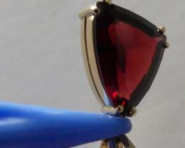 Fabulous Fancy cut Tanga Garnet Pendant set in 14Kt Gold