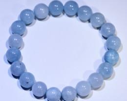 150.80 carats 10mm round (20 beads) Aquamarine ANGC 833