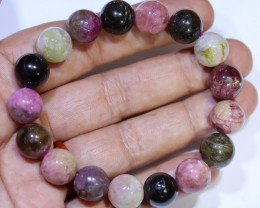 234.55 carats 12mm round (17 beads) Multicolour Tourmaline ANGC 834
