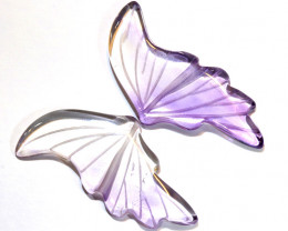 12 CTS AMETHYST BUTTERFLY CARVING  LT-940