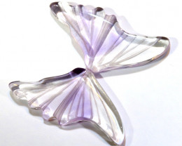 6 CTS AMETHYST BUTTERFLY CARVING  LT-943