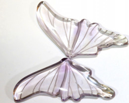 19 CTS AMETHYST BUTTERFLY CARVING  LT-994