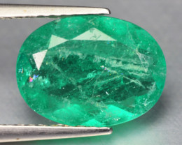 2.12 Cts Natural Earth Mined Green Color Colombian Emerald Gemstone