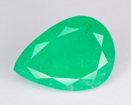 3.88 Cts Natural Earth Mined Green Color Colombian Emerald Gemstone
