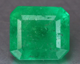 1.18 Cts Natural Earth Mined Green Color Colombian Emerald Gemstone