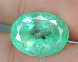 8.15 Cts Natural Earth Mined Green Color Colombian Emerald Gemstone