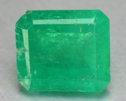 1.25 Cts Natural Earth Mined Green Color Colombian Emerald Gemstone