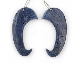 New Design!! Blue Coral Earrings,DIY Jewelry Making H9217