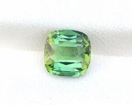 1.55 Ct Natural Greenish Transparent Tourmaline Gemstone