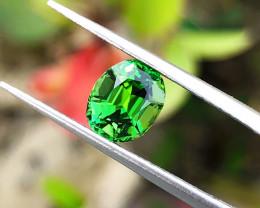 1.35 Ct Natural Green Transparent Tourmaline jewelry Size Gemstone