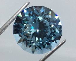 17.02 Carat IF Topaz Swiss Blue Master Cut Flawess Spectacular!
