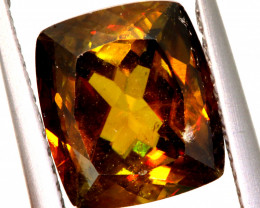 3.58 CTS NATURAL SPHENE  FACETED GEMSTONE TBM-2144