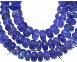 148.70 -CTS TANZANITE FACETED  BEADS STRAND PG-3191