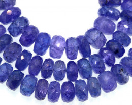 146.60 CTS TANZANITE FACETED  BEADS STRAND PG-3192