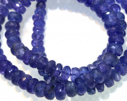 147.45 CTS TANZANITE FACETED  BEADS STRAND PG-3194