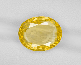 Yellow Sapphire, 6.40ct - Mined in Sri Lanka | Certified by GIA