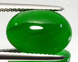 ~UNTREATED~ 6.12 Cts Natural Brumese Jade AAA Green Oval Cabochon