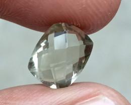 GREEN AMETHYST CHECKERED CUT Natural Gemstone VA4284