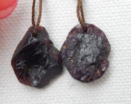 29cts Nugget Ruby Earrings gemstone earrings beads, stone for earrings E658