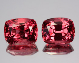 3.53 Cts BEAUTIFUL NATURAL PINK SPINEL CUSHION SRILANKA PAIR GEM