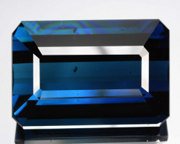 Unbelievable!!!  44.94 Cts Natural Indicolite Blue Tourmaline Octagon Mozam
