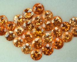 17.70 Cts Natural Spessartite Garnet Fanta Orange 27 Pcs Namibia