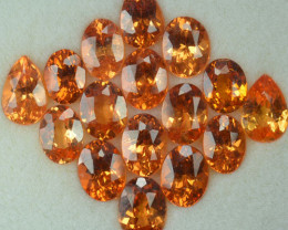16.59 Cts Natural Spessartite Garnet Fanta Orange 16 Pcs Namibia