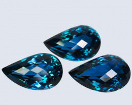 109.25Cts Natural London Blue Topaz Fancy cut Earring and pendant
