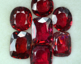 9.75 Cts Natural Pinkish Red Spinel Mixed Parcel 7 Pcs