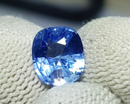 CERTIFIED 2.15 CTS NATURAL STUNNING CORNFLOWER BLUE SAPPHIRE SRI LANKA