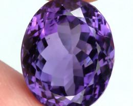 Superbly toned Uruguay Amethyst VVS 16.40cts Royal Purple