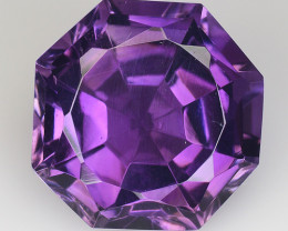 8.09 Ct  Natural Amethyst Top Cutting Top Quality Gemstone. AT 41