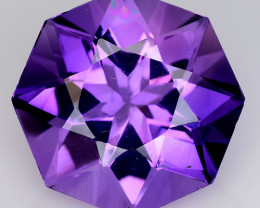 12.23 Ct  Natural Amethyst Top Cutting Top Quality Gemstone. AT 64