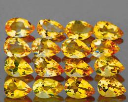 5x3 mm Pear 16 pcs 3.12cts Golden Yellow Citrine [VVS]