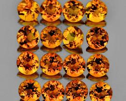 3.00 mm Round 25 pcs 2.10cts Golden Orange Citrine [VVS]