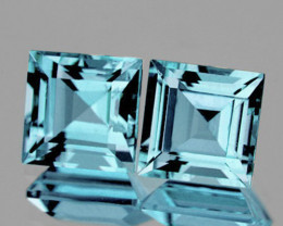 7.00 mm Square 2 pieces 4.80cts Sky Blue Topaz [VVS]