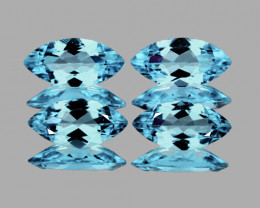 10x5 mm Marquise 4 pcs 4.98cts Sky Blue Topaz [VVS]