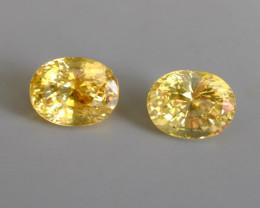 26.19ctw Unheated Yellow Sapphire Pair, Sri Lanka