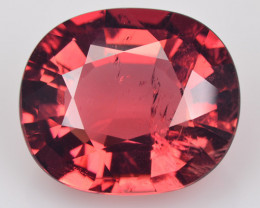 9.13 Cts NATURAL TOURMALINE - PINKISH ORANGE - OVAL - MOZAMBIQUE