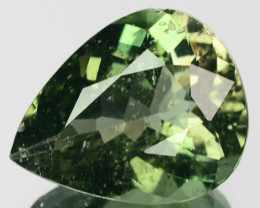 5.54 Cts NATURAL TOURMALINE GREEN PEAR  MOZAMBIQUE GEM