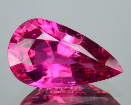 2.90 Cts NATURAL - RASPBERRY PINK RUBELITE TOURMALINE - PEAR - MOZAMBIQUE