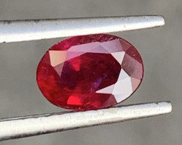 GFCO Certified 0.78 Carat Ruby Gemstones From BURMA
